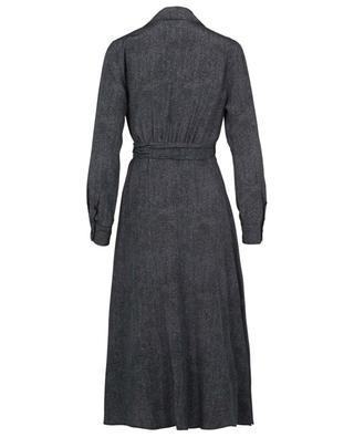 Wickelkleid aus Seide mit Denim-Print Ravel MAX MARA