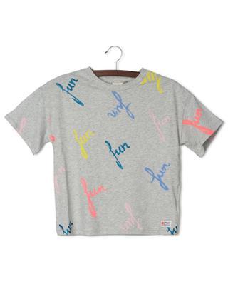 T-shirt gris chiné oversize imprimé fun AO76