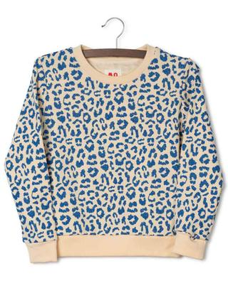 Sweat-shirt à col rond embelli de taches léopard scintillants Leona AO76