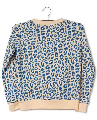 Leona crewneck sweatshirt with glittering leopard specks AO76