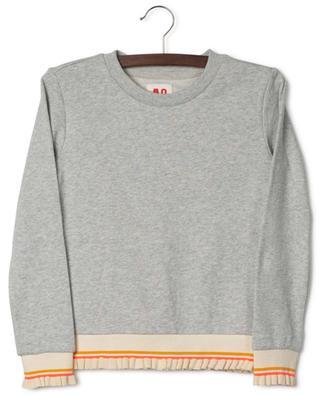 Sweat-shirt gris chiné détail volants Kimchi AO76