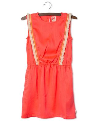 Sadie sleeveless neon dress with knit ruffles AO76
