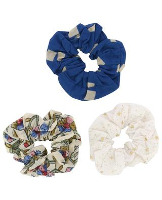 Set of 3 printed cotton scrunchies AO76