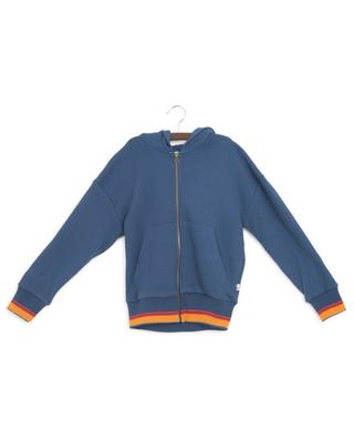 Zip-up hoodie with stripes AO76