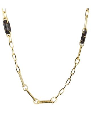 Escale Picot gold and acetate necklace GAS BIJOUX