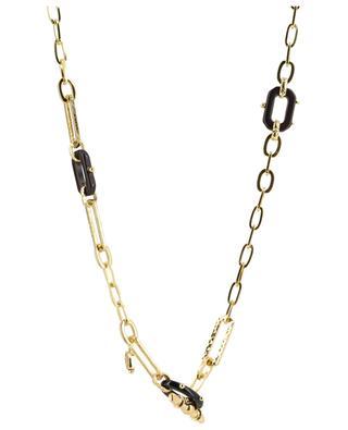 Escale Picot gold and acetate necklace GAS BIJOUX