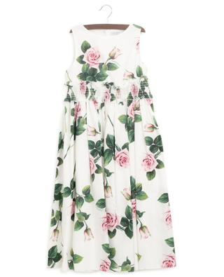 Ärmelloses langes Kleid Tropical Rose DOLCE & GABBANA