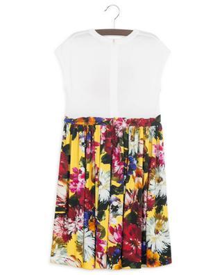 Blooming Logo sleeveless jersey dress DOLCE & GABBANA