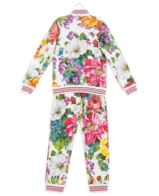 Blooming floral track suit with Lurex details DOLCE & GABBANA
