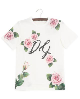 T-shirt fleuri en jersey Tropical Rose DOLCE & GABBANA
