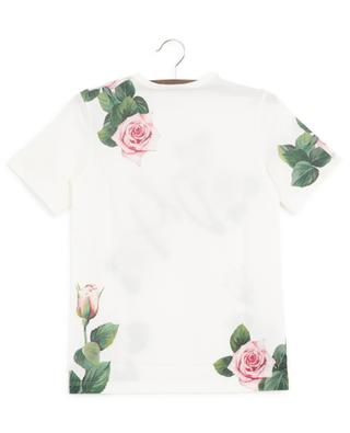 Geblümtes Jersey-T-Shirt Tropical Rose DOLCE & GABBANA
