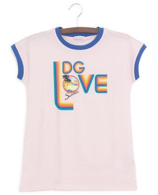 T-Shirt en jersey imprimé DG Summer Love DOLCE & GABBANA
