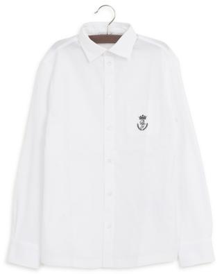 Heraldic Logo embroidered bi-material shirt DOLCE & GABBANA