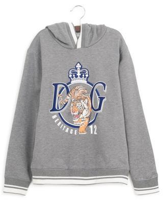 DG Heritage 12 tiger print hooded sweatshirt DOLCE & GABBANA
