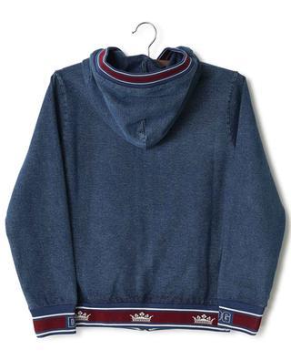 King's Age hooded denim effect sweat jacket DOLCE & GABBANA