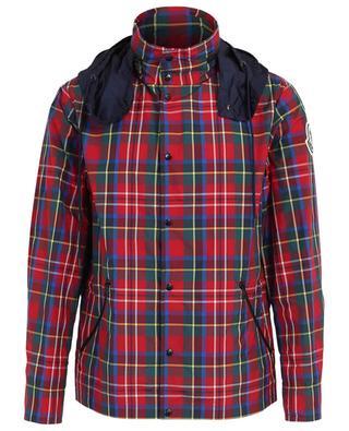 Yser hooded check pattern lightweight jacket MONCLER
