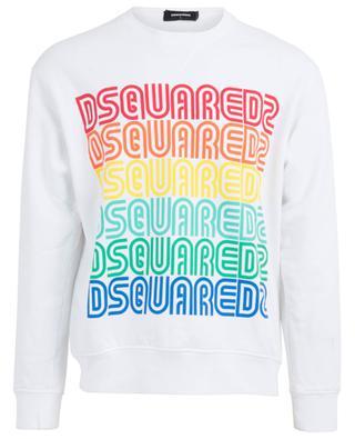 Sweatshirt aus Baumwolle mit Logo im Vintage-Stil DSQUARED2