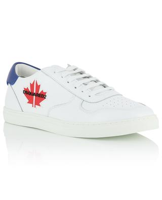 Maple Leaf print perforated leather sneakers DSQUARED2