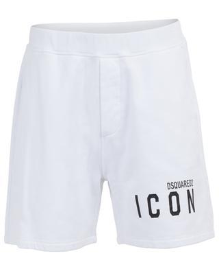 Short en coton molletonné imprimé Icon DSQUARED2