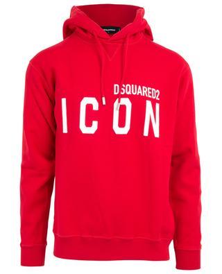 Icon printed hooded sweatshirt DSQUARED2