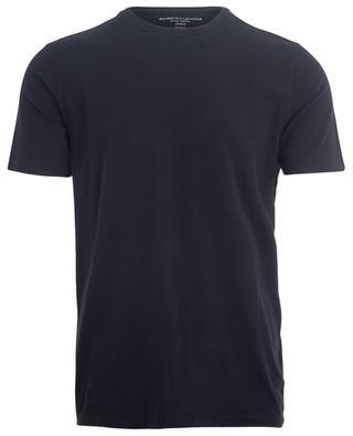 T-shirt en jersey stretch à col rond et manches courtes MAJESTIC FILATURES