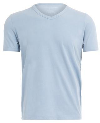 Short-sleeved V-neck T-shirt in stretch jersey MAJESTIC FILATURES