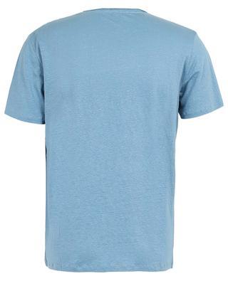Rundhals-T-shirt aus Leinen-Stretch Deluxe MAJESTIC FILATURES