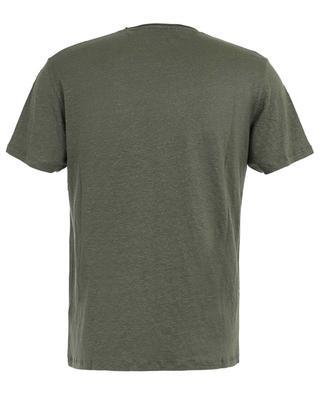 T-shirt à col rond en lin stretch Deluxe MAJESTIC FILATURES