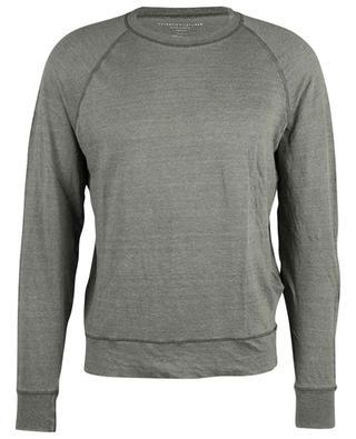 Sweat-shirt ajusté chiné à manches raglan MAJESTIC FILATURES
