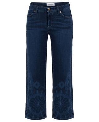 Verkürzte Jeans mit weitem Bein Tie-and-Dye Phillipa CAMBIO