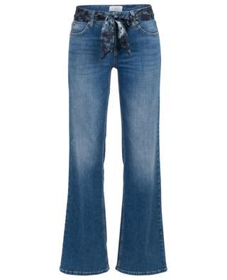 Jeans mit weitem Bein und Batik-Gürtel Tess CAMBIO