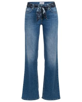 Tess wide-leg jeans with batik belt CAMBIO