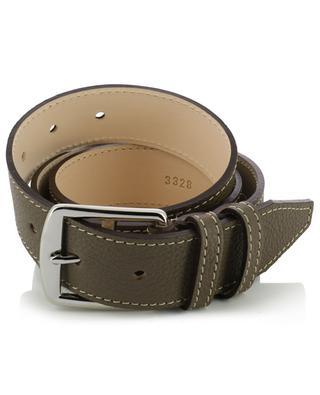 Grained leather belt BERTHILLE CHARLES ET CHARLUS