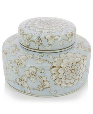 Pot en porcelaine motif fleurs KERSTEN