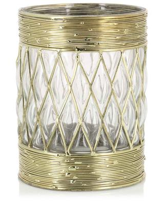 Glass and metal candle holder KERSTEN