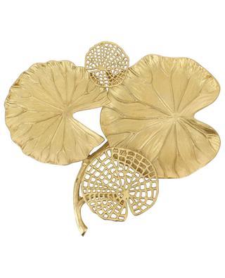 Goldenes Tablett Seerosenblätter KERSTEN