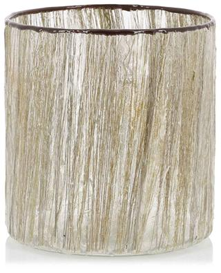 Metallic threads glass photophore KERSTEN