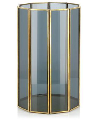 Grand photophore en verre et métal Hurricane H26 KERSTEN