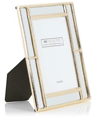 Cadre photo en métal doré orné de miroirs KERSTEN