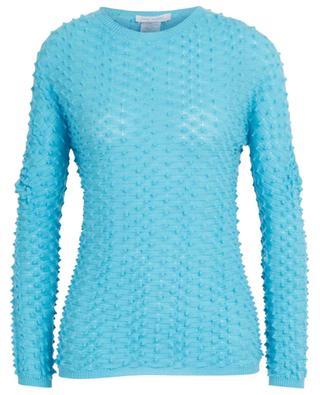 Textured virgin wool fine round neck jumper GRAN SASSO