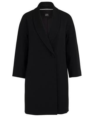 Loose wool coat with shawl collar CINZIA ROCCA