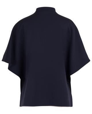 Reversible lighweight wool and nylon cape CINZIA ROCCA
