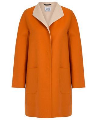 Loro Piana double layer wing collar wool coat CINZIA ROCCA