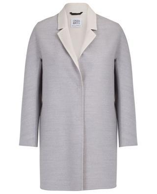 Loro Piana wool double layer lapel collar coat CINZIA ROCCA
