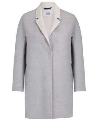 Doppellagiger Mantel mit Revers aus Loro Piana-Wolle CINZIA ROCCA
