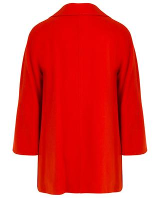 Cashmere and wool double-breasted A-line coat CINZIA ROCCA
