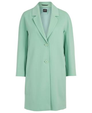 Straight loose lightweight cashmere and wool coat CINZIA ROCCA