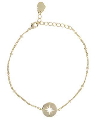 Stardust Disc Beaded Chain golden bracelet ESTELLA BARTLETT