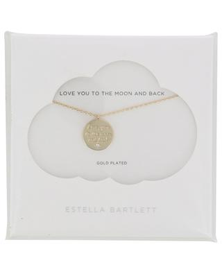 Goldene Halskette mit Medaille Love You To The Moon And Back ESTELLA BARTLETT