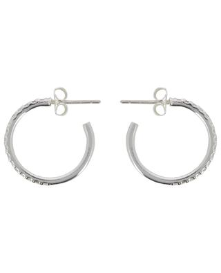 Paver Set Large silver hoop earrings with zircons ESTELLA BARTLETT